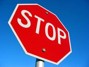 stop sign ticket